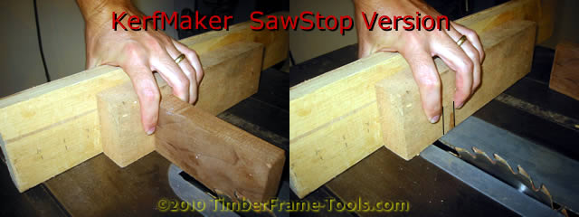 Kerfmaker for Sawstop