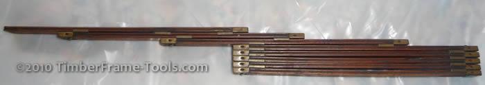 Interlox sliding ruler