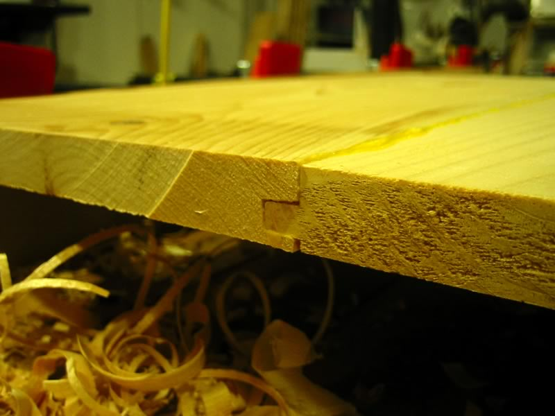 two boards joined by tongue and groove joint