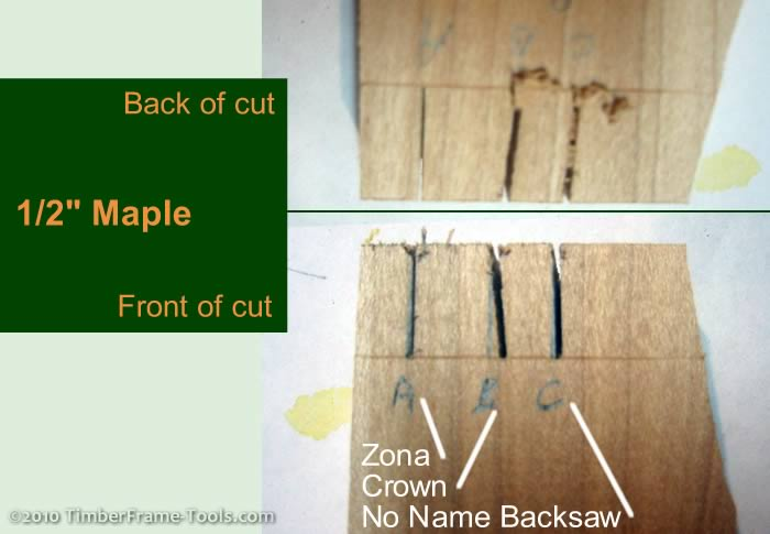 Dovetail cuts in Maple